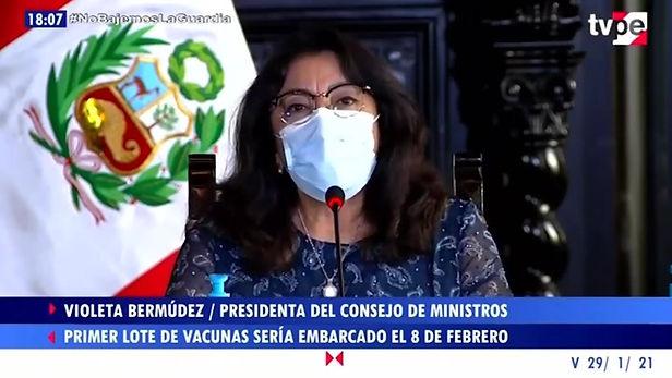 Primer lote de vacunas contra la Covid-19 debe llegar al Perú el 9 de febrero