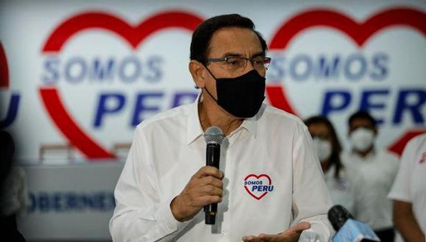 """Martín Vizcarra: """"Vacunas llegarán gracias a todo lo que hicimos en mi gobierno"""""""