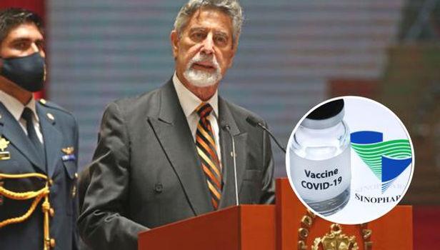 Congresista de UPP pide que Sagasti sea el primero en vacunarse contra COVID-19