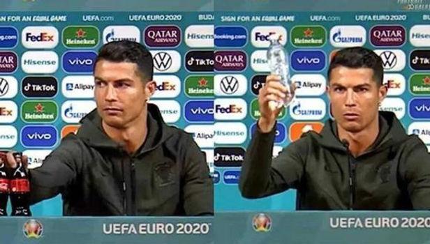 La UEFA pide que los jugadores no toquen las botellas de las conferencias