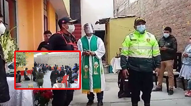 Huancayo: Intervienen a sacerdote y otras 30 personas en plena misa