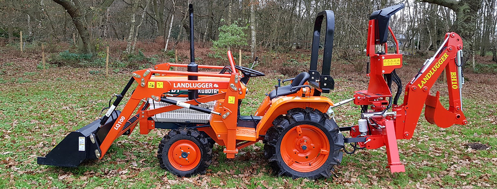 Kubota B1502D Compact  Tractor Front Loader 4 in 1 Bucket & Back Hoe Digger