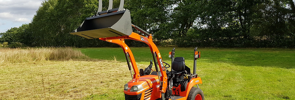 Kubota Compact Tractor BX2350 HST MX Grab Bucket & Mid Deck