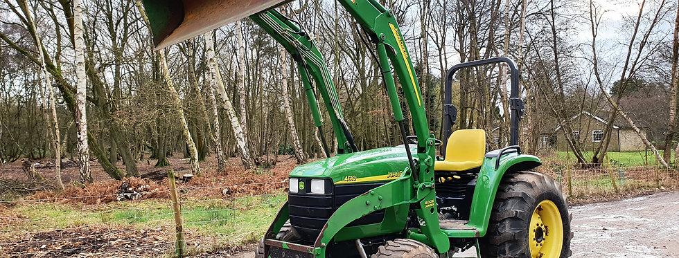 John Deere Compact Tractor 4610 Quick Release Front Loader HST Turf Tyres