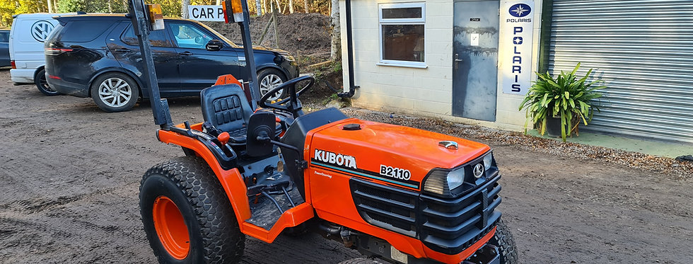 Kubota Compact Tractor B2110  On Large Turf Tyres