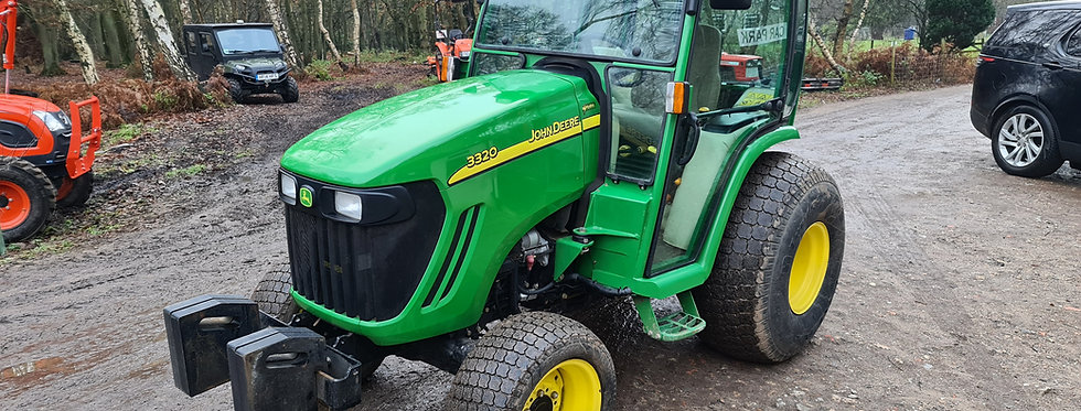 John Deere Compact Tractor For Sale 3320 HST Cab Turf Tyres