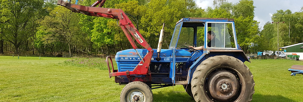 Leyland Compact Tractor 255 Cab and front Front Loader