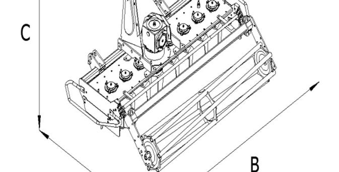 PH-90 Compact Tractor Power Harrow For Sale