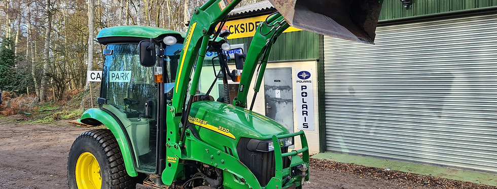 John Deere Compact Tractor For Sale 3320 HST Cab and Loader on Turf Tyres