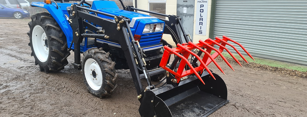 Iseki Compact Tractor 235  with Front Loader Grab Bucket