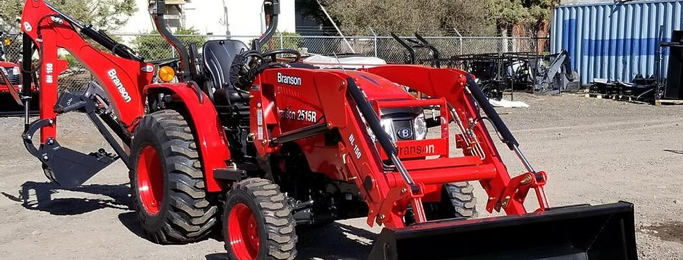 Branson F36R Tractor + Front Loader + Compact Tractor Backhoe