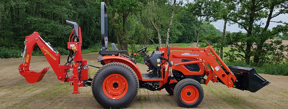Kioti Tractor CK4010 with Loader & Digger | Compact Tractors For Sale UK