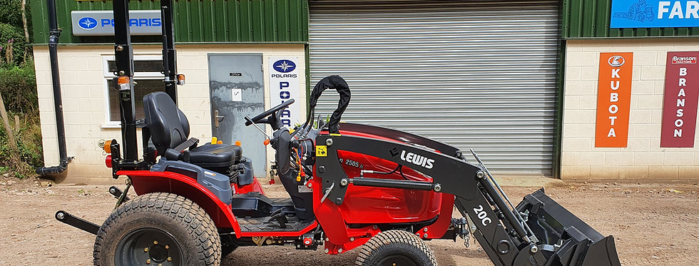 2505H Branson Tractors with BL20CL Tractor Loader and Mid-deck Mower
