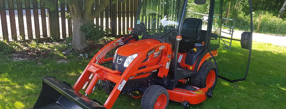Kioti Tractor CS2220 Cab +Mid Deck Mower + Tractor Loader