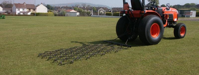 Fleming Trailed Grass Harrow GH8 8 Foot Chain Harrows