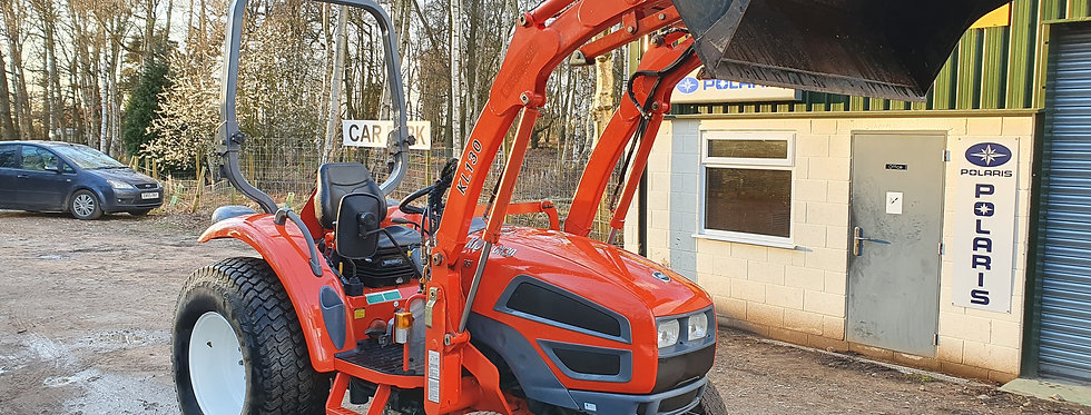 CK30 Kioti Compact Tractor Quick Release Front Loader HST Turf Tyres