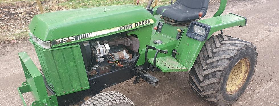 John Deere Compact Tractor 755 HST  Tractor On Industrial Tyres