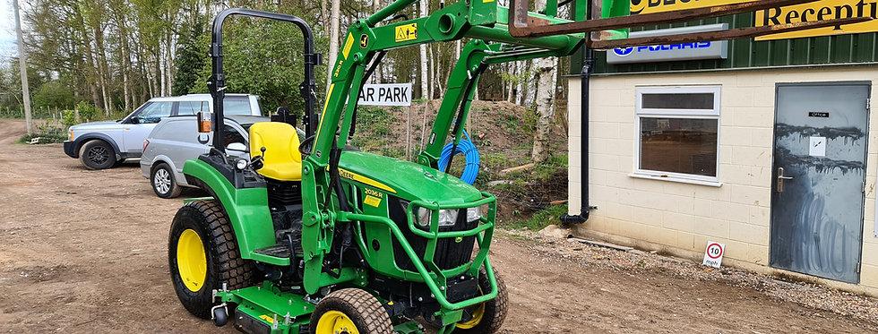 2036R John Deere Compact Tractor Front Loader & Mid Deck
