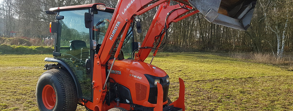Kubota Compact Tractor STW40  | Used small tractors with loader 4 in 1 Bucket