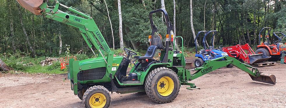 John Deere Compact Tractor 4100 FEL & Backhoe Digger