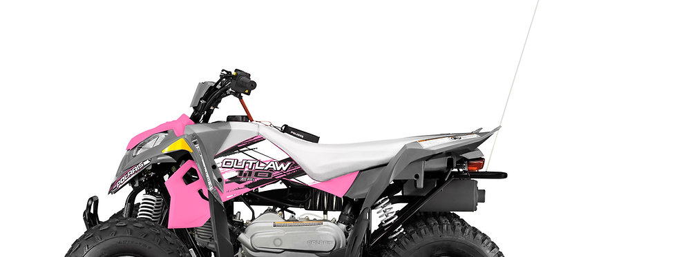 Polaris Outlaw 110 Kids Quads In Pink