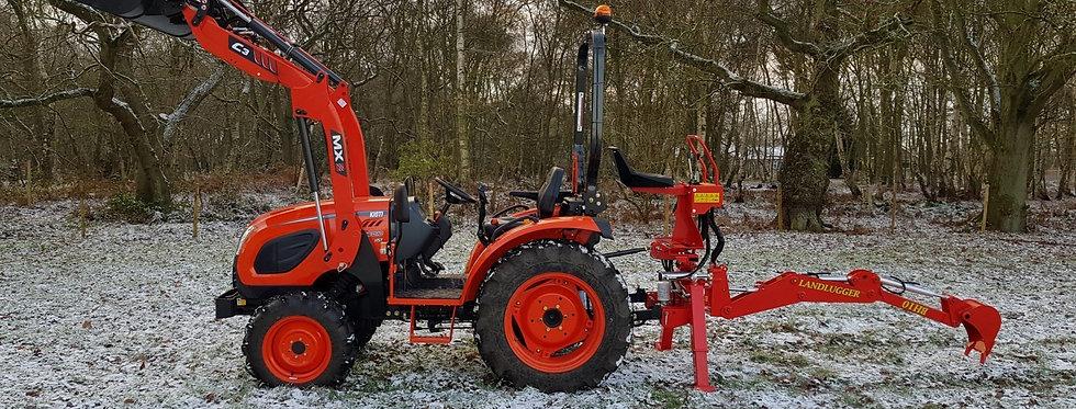 Large Kioti Tractor CK4010 + Grab Bucket | Compact Tractors For Sale UK