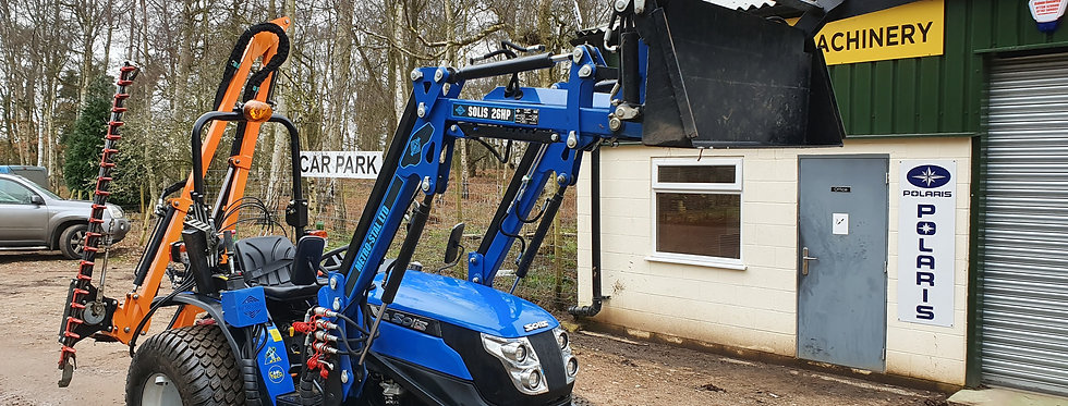 Solis 26 Compact Tractor  4WD with Front Loader 4 in 1 Bucket