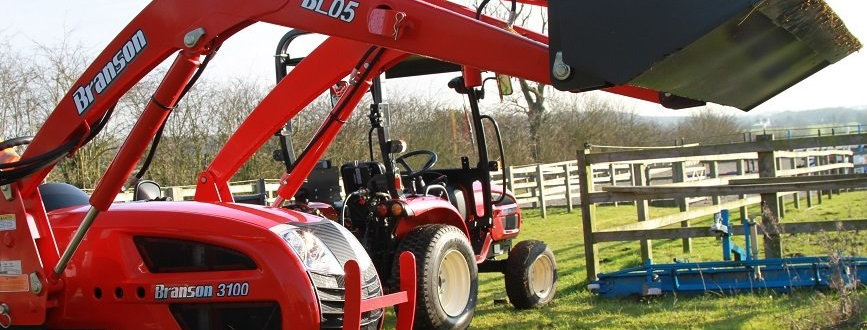 2500LH Branson Tractors with Tractor Loader & Tractor Mower