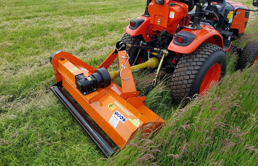 Compact tractor flail mowers