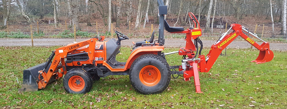 Kubota Compact Tractor B2100D | Small Backhoe Tractors For Sale + Front Loader