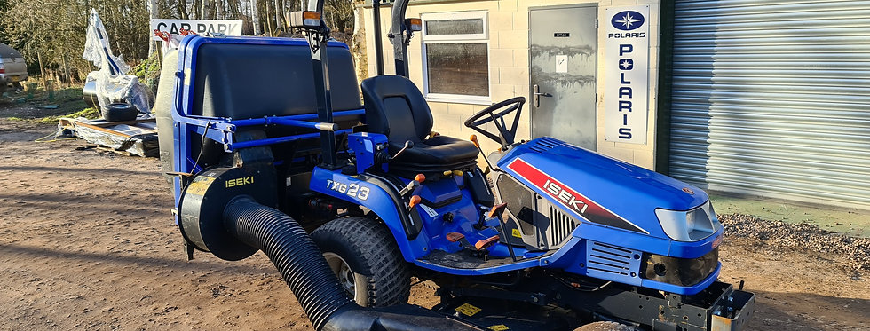 Iseki Compact Tractor TX23 with 54 inch Middeck and Collector