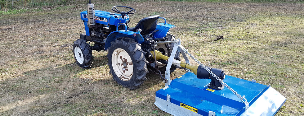 Iseki Medium Compact Tractor 4wd & New Fleming Top3 4 Foot Topper