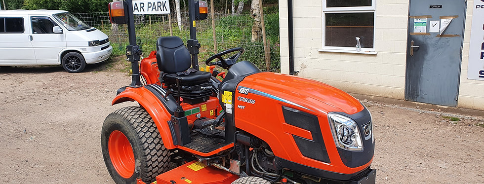 """Kioti Tractor CK2810 Hydrostatic & 60"""" Mid deck Mower"""