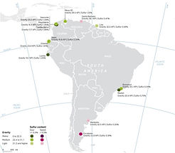 South America Oil Specs