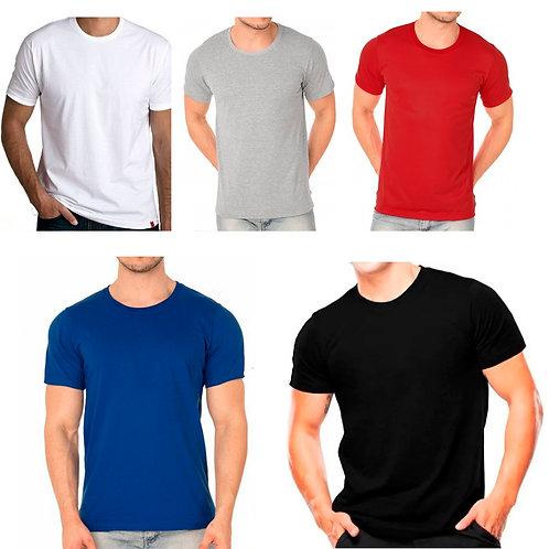 KIT 5 Camisetas Básicas Masculinas
