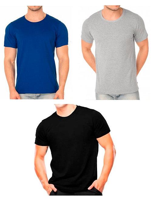 KIT 3 Camisetas Básicas Masculino