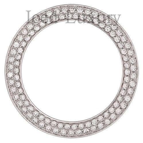 CUSTOM  TWO ROW DIAMOND BEZEL FOR ROLEX