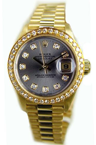 ROLEX PRESIDENT 26MM W/ CLASSY CUSTOM DIAMOND DIAL