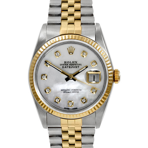 ROLEX DATEJUST 36MM W/ AMAZING CUSTOM MOP DIAMOND