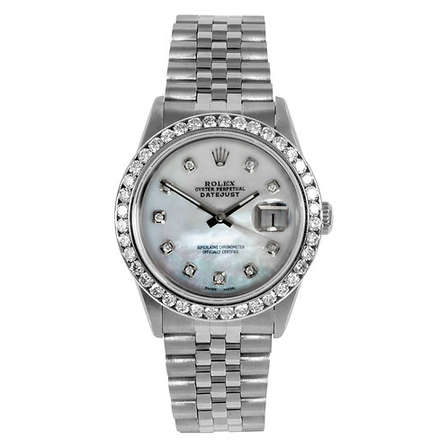 ROLEX DATEJUST 36MM W/ RADIANT CUSTOM DIAMOND DIAL