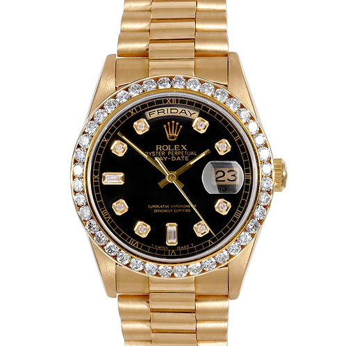 ROLEX PRESIDENT W/ AMAZING CSTM ADDED DIAMOND DIAL