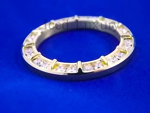 CUSTOM DIAMOND SPORTS BAR BEZEL FOR ROLEX