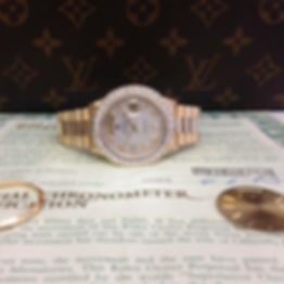 Rolex watch investment with custom shimm
