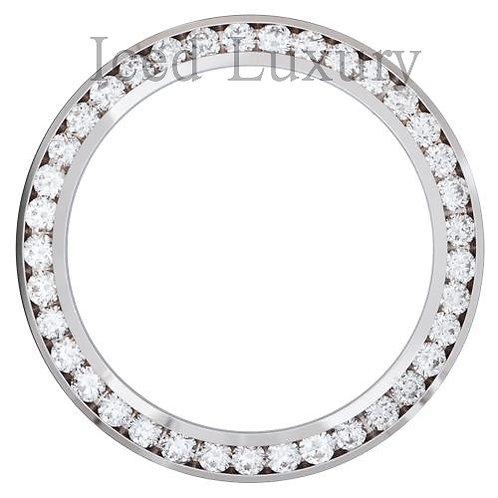 CUSTOM CHANNEL SET DIAMOND BEZEL FOR ROLEX