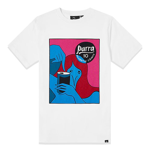 by Parra neurotic comic t-shirt / White