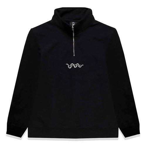 by Parra snaked 1/4 zip sweatshirt
