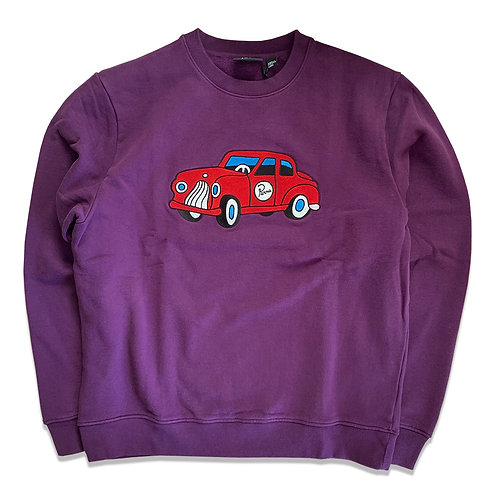 by Parra toy car crew neck sweater