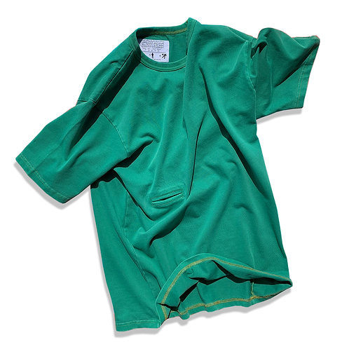 日常着 7.5oz GARMENT-DYED CELL PHONE T-SHIRT /GREEN