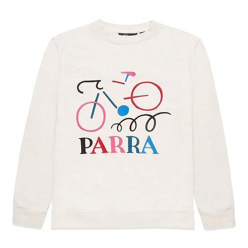 by Parra broken bike crew neck sweatshirt / off white
