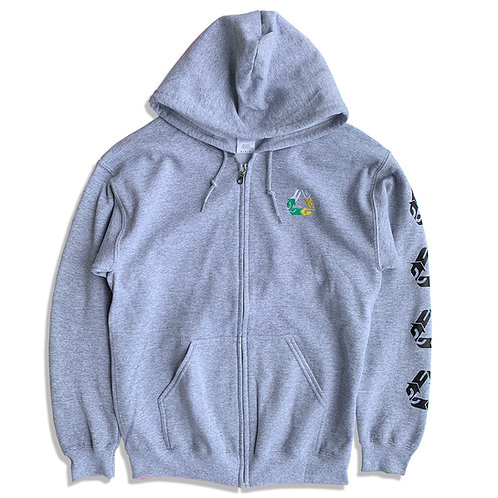CHAIN REACTION ZIP HOODIE/HEATHER